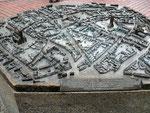 Metallene Miniaturstadtansicht