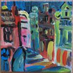 Wismarer Häuser bei Nacht