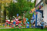 Lustiges Windspiel an der Mutter-Kind-Reha-Klinik