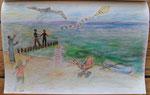 Drachensteigen am Strand