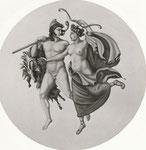 Konzerthaus - Deckengemälde (Rekonstruktion nach Schinkel): Apoll und Diana, Tempera, 1,80 m Durchmesser