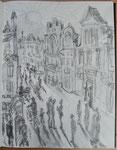 Sicht auf den Boulevard der Wismarer Altstadt
