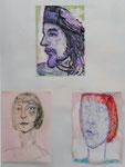 oben: Musiker und Maler Nass, unten: Dagmar, Insel Poel