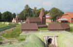 Inselmuseum/ Miniatur von ehemaliger Schlossanlage mit Wall und Kirche