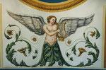 Ausführung in Temperamalerei, mit Akanthusranken