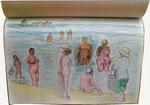 Poel, wie es leibt und lebt !, 2011, aus meinem großen Inseltagebuch, Strandszene