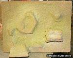 Sandsteinrückwand