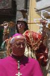 S. E. Mons. Ambrogio Spreafico alla Processione dell' 8 Maggio in onore di San Michele Arc. Patronus Principalis di Vallecorsa, nella ricorrenza del 300° Anniversario, 1709--2009