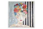 Blütenfrau - 70x70cm - 300 Euro