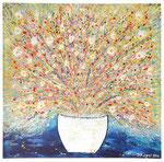 Blütenrausch - 100x100cm - 420 Euro - VERKAUFT