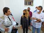 Las Autoridades con Ignacio Candelas