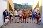 Los finalistas en el Patio de Caballos