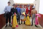 Los alumnos en el Patio de Caballos