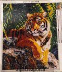 broderie diamants tigre