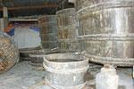 Fässer zur Herstellung von Fischsauce