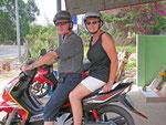 Unterwegs mit dem Moped