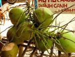 Kokosnüsse auf dem Markt