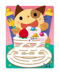 迷路 ケーキ 動物 キャラクター かわいい