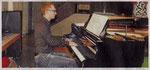 Johannes Freiburg begleitete den Chor am Klavier