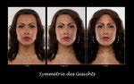 Symmetrie des Gesichts