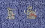 Ganesha et Brahma. Colorisé.