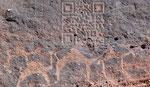 Code QR (Quick Response) sur un rocher du Wadi Rum !