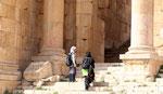Visiteuses à Jerash