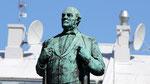 la statue de Jón Sigurðson, un islandais célèbre pour sa lutte pour l'indépendance au XIXème siècle.