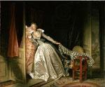"""""""Le baiser à la dérobée"""" par Jean-Honoré Fragonard (1732-1806) et Svetlana Petrova"""