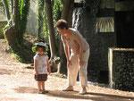 Au parc de Cébazat avec mamy Evelyne