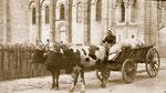 Les chars qui transportaient le linge propre à Royat