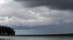 Lac Servières, ciel et orage