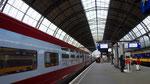 Arrivée du Thalys en gare d'Amsterdam