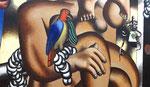 Fernand Léger (1881-1955) : Composition aux deux perroquets
