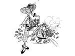 La contesse au jardin