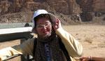 Sur le pick up dans le Wadi Rum