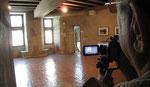 Ger filme à la Maison de Jacques Cœur à Bourges