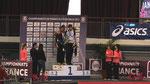 Podium du 60m Lemaître 3ème derrière Vicaud et Biron