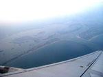La lagune de Venise vue au décollage