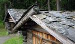 Norvège, toiture lauze