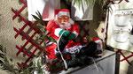 Père Noël en terrasse