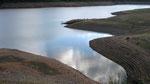 Barrage de Villerest en basses eaux