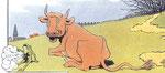 Dans la fable de la grenouille, c'est le bœuf qui rit !