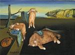 """""""La persistance de la mémoire"""" par Salvador Dali (1904-1989) et Svetlana Petrova"""