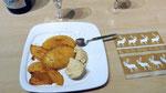Manges caramélisées au poivre de Sichan, glace à la vanille