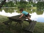 Au bord du petit étang de Pulvérières