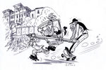 Un dessin de Georges Sarre créé pour Evelyne !