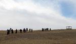 """Une troupe de bruyants barbus sur le site de """"Qasr Amra"""""""