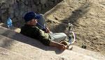 Fumeur sur la plage d'Aqaba