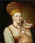 """""""Portrait d'une inconnue"""" par Ivan Petrovitch Argounov (1727-1802 et Svetlana Petrova"""
